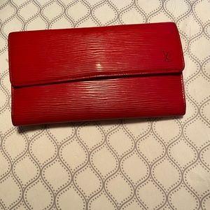 COPY - Authentic Louis Vuitton red wallet